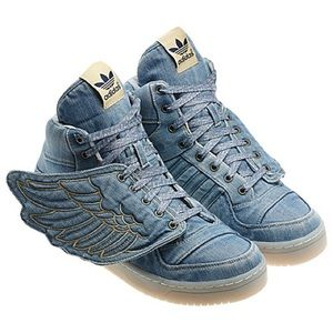 EUC Adidas JS Wings Jeremy Scott Denim, 12.5